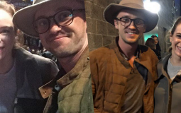 FOTOS: Danielle Panabaker e Tom Felton gravam The Flash em Vancouver